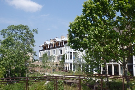 VIEW OF TOWNHOMES FROM PLATFORM